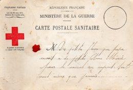 Cpa  Carte Postale Sanitaire  (au Dos  )  Bonne Annee FLEURY SUR AIRE 1918  (fleur Sechee) - Guerra 1914-18