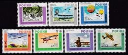 SERIE NEUVE DE POLOGNE - HISTOIRE DE L'AVIATION N° Y&T 2751 A 2757 - Avions