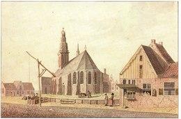 Reproduction De Hendrik Tavernier. Eglise Réformée De Schagen Peint Vers 1790. - Vieux Papiers