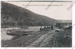 CPA CLAMECY (58) : Le Flottage Sur L'Yonne - Barrage Arrêtant Le Flot - Clamecy