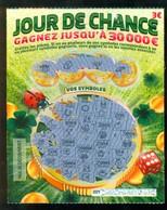 Grattage FDJ - FRANCAISE DES JEUX - JOUR DE CHANCE 50801 - Billets De Loterie