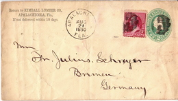 Postal History: USA Uprated Postal Stationary Cover - Postal Stationery