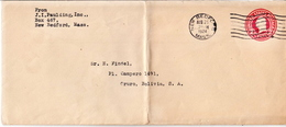 Postal History: USA Postal Stationary Cover - Postal Stationery