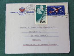 South Africa 1971 Aerogramme To Denmark - Plane - Protea Flower Logo - Afrique Du Sud (1961-...)