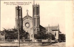 ROMAN CATHOLIC CATHEDRAL FROM PORT OF SPAIN ,TRINIDAD ,B,W,J.  REF 58268 C - Trinidad