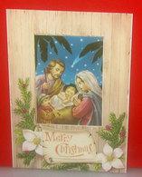 Merry Christmas Auguri Naticità Cartolina Nuova - Noël