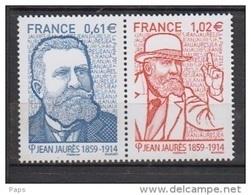 2014-N°4869/4870** JEAN JAURES - Francia