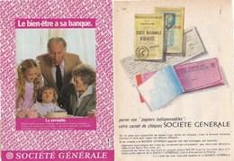 Pub.1962 Société Générale Banque  2 Pages TBE - Publicités