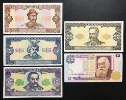 Ukraine Ucraina Hryven 1992 2+5+10+20 + 50 1996  Lotto 2353 - Ukraine