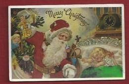 NOEL - PÈRE NOEL - JOUETS - FILLETTE ENDORMIE -  1987 - Santa Claus