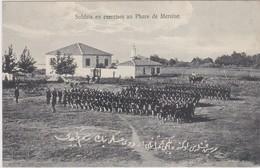 TURQUIE TURKEY  MERSIN MERSINE  Soldats En Exercice Au Phare De Mersine - Turquie