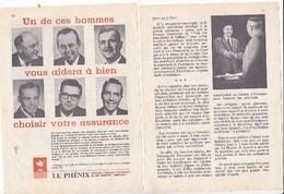 Pub.1960  Le Phénix Assurance  3 Pages 1/2  TBE - Publicités