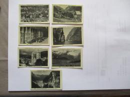 7 IMAGES DELESPAUL N°491 à 496 Et 498 BERGEN,BORGUND,LE SOGNEFJORD,JOTUNHEIM,GEIRANGER - Vieux Papiers