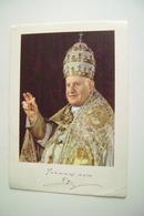 GIOVANNI XXIII  PAPA  PAPST POPE  POSTCARD  USED  IMMA. OPACA - Papi