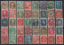 DR Lot 40 Marken 1924-1932 Gestempelt Perfins Firmenlochungen - Sellos