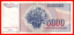 BILLETE YUGOSLAVIA. 5.000 DINARES. 1985. - Yugoslavia