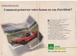 """Pub.1987 Samda Groupama  Assurance """"bien Conseiller,bien Assurer"""" 2 Pages TBE - Publicités"""
