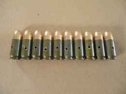 10 Cartouches 9 Mm LUGER ( Neutralisées ) - Equipement