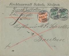 DR Brief Eilbote Mif Minr.2x 46, 49 Stolpen 20.10.97 Gel. Nach Bautzen - Deutschland
