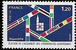 France 1979-1999 Lot De Timbres Sur Élections Assemblée Communautés Européennes, 6 Val MNH - Institutions Européennes