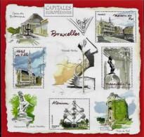 France 2007 Capitales Européennes BRUXELLES Belgique, 1 Bloc Mnh - Neufs