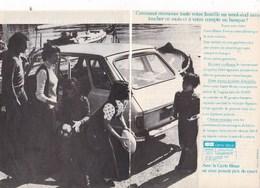 Pub.1973 Banque  CB Carte Bleue  2 Pages TBE - Publicités