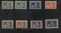 POLAND REVENUE 1920-23 GOLD & SILVER FISCAL REVENUE 8 EXAMPLES NHM BF001-007, 009 TREASURY FUND POLISH OBLIGATORY TAX - 1919-1939 Republic