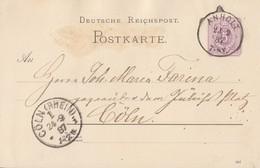 DR Ganzsache K1 Anholt 23.9.87 - Deutschland