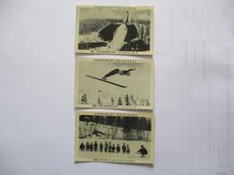 3 IMAGES CHOCOLAT DELESPAUL N°481 à 483 HOLMENKOLLEN TREMPLIN DE SKI,UN SAUT A SKI,ECOLE DE SKI POUR ENFANTS - Vieux Papiers