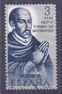 España-Spain. Toribio De Mogrovejo (o) - Ed 1628, Yv=1277, Sc=1292, Mi=1517 - 1961-70 Usados