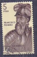 España-Spain. Francisco Pizarro (o) - Ed 1629, Yv=1278, Sc=1293, Mi=1518 - 1961-70 Usados