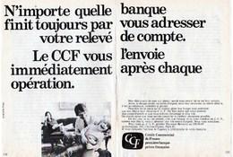 Pub.1971  CCF Crédit Commercial De France  2 Pages TBE - Publicités