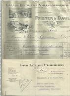 67 - Bas Rhin - Strasbourg - Facture Pfister & Daul - 21 Bd. De Kronenbourg - Distilleries - Réf.29. - Francia
