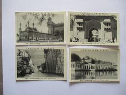 4 IMAGES CHOCOLAT DELESPAUL N°588 à 590 Et 592 HAIDERABAD,JUPPELPHUR,JAIPUR,UDAIPUR - Vieux Papiers