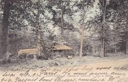 50. SAINT JAMES. CPA COLORISEE. CABANES DE BUCHERON. BOIS DE MARLY. ANNÉE 1906 - France