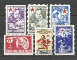 TURQUIA YVERT NUM. 85/90 ** SERIE COMPLETA SIN FIJASELLOS - 1921-... República