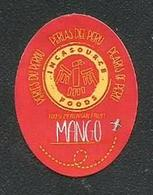 # MANGO INCASOURCE FOODS By Air Fruit Sticker Label Etichette Etiquettes Etiquetas Adhesive Aufkleber Fruta Frucht Peru - Fruit En Groenten