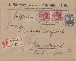 DR R-Brief Mif Minr.2x 105, 106 Rudolstadt 17.5.19 - Deutschland