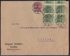 DR Brief Mif Minr.10x 302,309A Gotha 22.10.23 - Deutschland