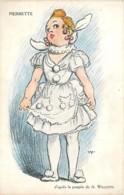 Illustration De WILLETTE , Poupée PIERROT Colombine Pierrette , * 399 87 - Wilette