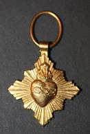 """Pendentif Médaille Religieuse Métal Doré """"Sacré Coeur"""" Religious Medal - Religión & Esoterismo"""