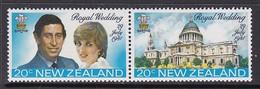 PAIRE NEUVE DE NOUVELLE-ZELANDE - MARIAGE ROYAL DU PRINCE CHARLES ET DE LADY DIANA SPENCER N° Y&T 796/797 - Royalties, Royals