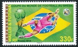 WALLIS ET FUTUNA 2014 - Yv. 818 ** SUP - Coupe Du Monde De Football, Au Brésil  ..Réf.W&F22331 - Wallis-Et-Futuna