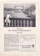 Pub.1957 The London Assurance  Pool Of London  TBE - Publicités