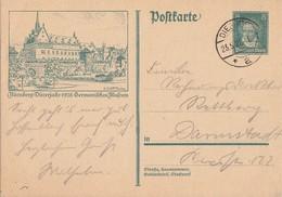 DR Ganzsache Minr.P178/020 Nürnberg Germanisches Museum Dieburg 23.5.28 - Deutschland