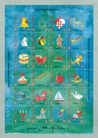 Denmark. Christmas Sheet 1994. Danish Church Calgary. Toys.Train,Teddy,Ship,Music - Full Sheets & Multiples