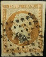 FRANCE Y&T N°16 Napoléon 40c Orange. Oblitéré Losange PC N° - 1853-1860 Napoléon III
