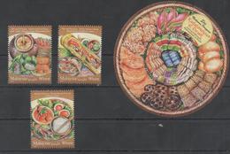 MALAYSIA, 2017, MNH, FOOD, DESSERTS, FRUIT, SEAFOOOD, FOOD FESTIVAL II, 3v+S/SHEET - Food