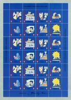 Denmark.Christmas Sheet 1995. Danish Church Calgary Canada. Angels. Stars. Moon. - Full Sheets & Multiples