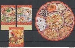 MALAYSIA, 2017, MNH, FOOD, DESSERTS, SWEETS, SATAY, RICE, 3v+S/SHEET - Food